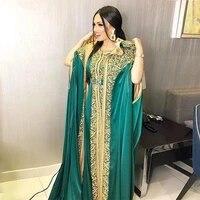 moroccan kaftan caftan muslim evening dresses a line chiffon appliques dubai arabic turkey abaya islamic evening gown