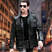 Clássico m65 homem de couro genuíno casaco masculino inverno jaqueta vendas mais tamanho qualidade
