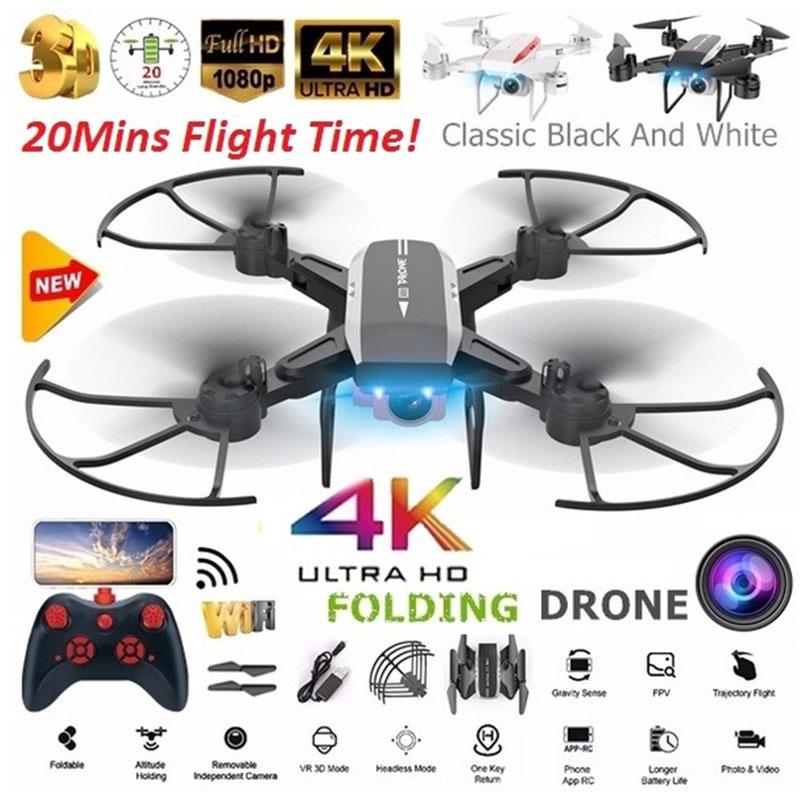 KY606D 4K HD Cámara Drone con cámara HD flujo óptico posicionamiento Quadrocopter altura mantener FPV Quadcopters RC helicóptero regalo