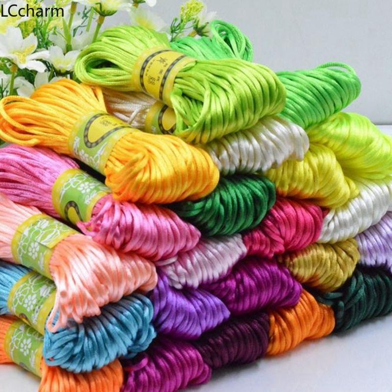 3mm Chinese Knot Satin Nylon Braided Cord Rope Beading Macrame Handmade Thread Cords 5m