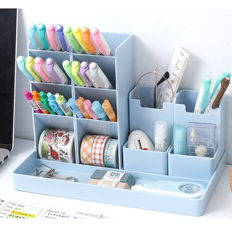 Penholder Desk Organizer Desktop Cute Penholder Organizers For Desktop Office Desk Accessories Stand Stationery & Office Storage