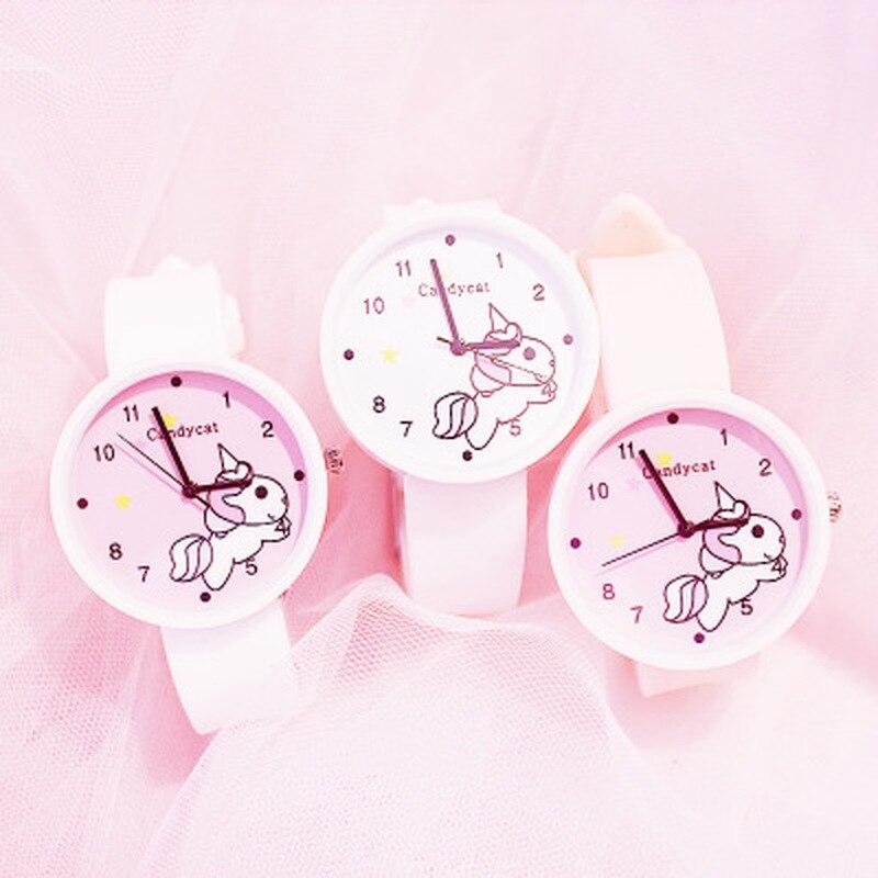 2020 nuevo caramelos de unicornio Color relojes Ins tendencia Reloj coreano Reloj de silicona gelatinosa Reloj de Mujer Reloj regalos para mujeres
