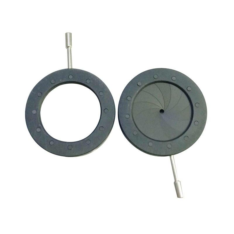 1 pieza 1-20mm cámara Digital microscopio concentrador ajustable Iris abertura de diafragma condensador 12 Uds hojas