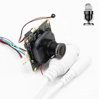 Multi-Language 2MP Mini POE IP Network Camera Module Board With Audio Pickup Microphone HD 1080P XMeye App LAN Cable DIY ONVIF