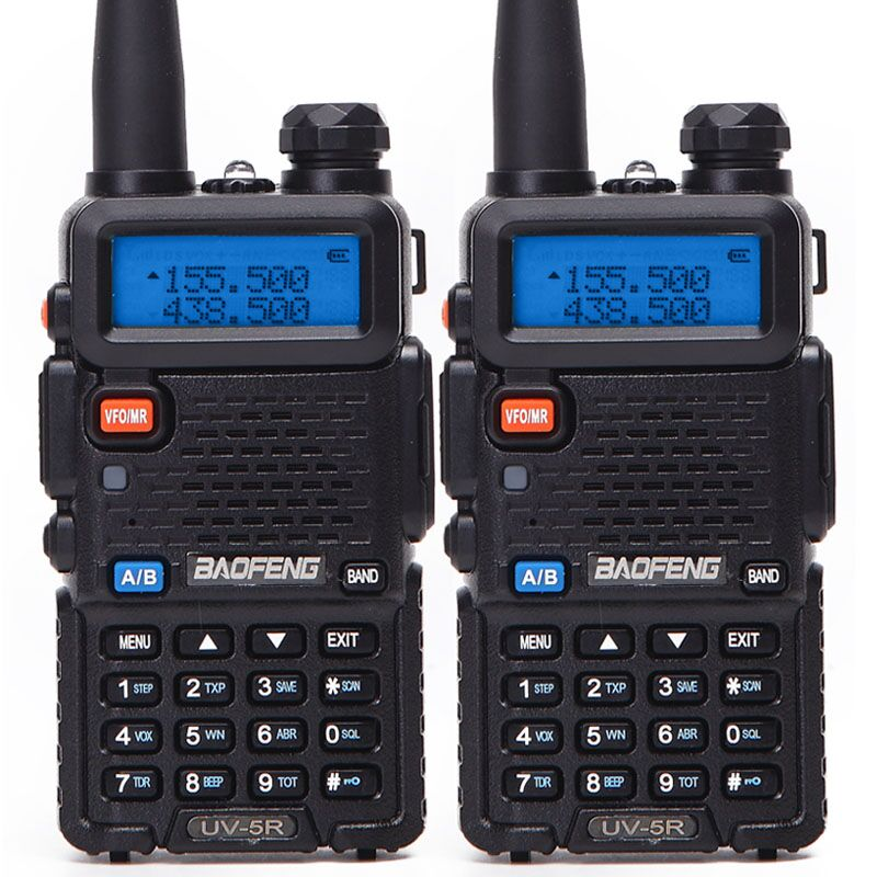 1Or 2PCS Baofeng BF-UV5R Ham Radio Portable Walkie Talkie Pofung UV-5R 5W VHF/UHF Radio Dual Band Two Way Radio UV 5r CB Radio