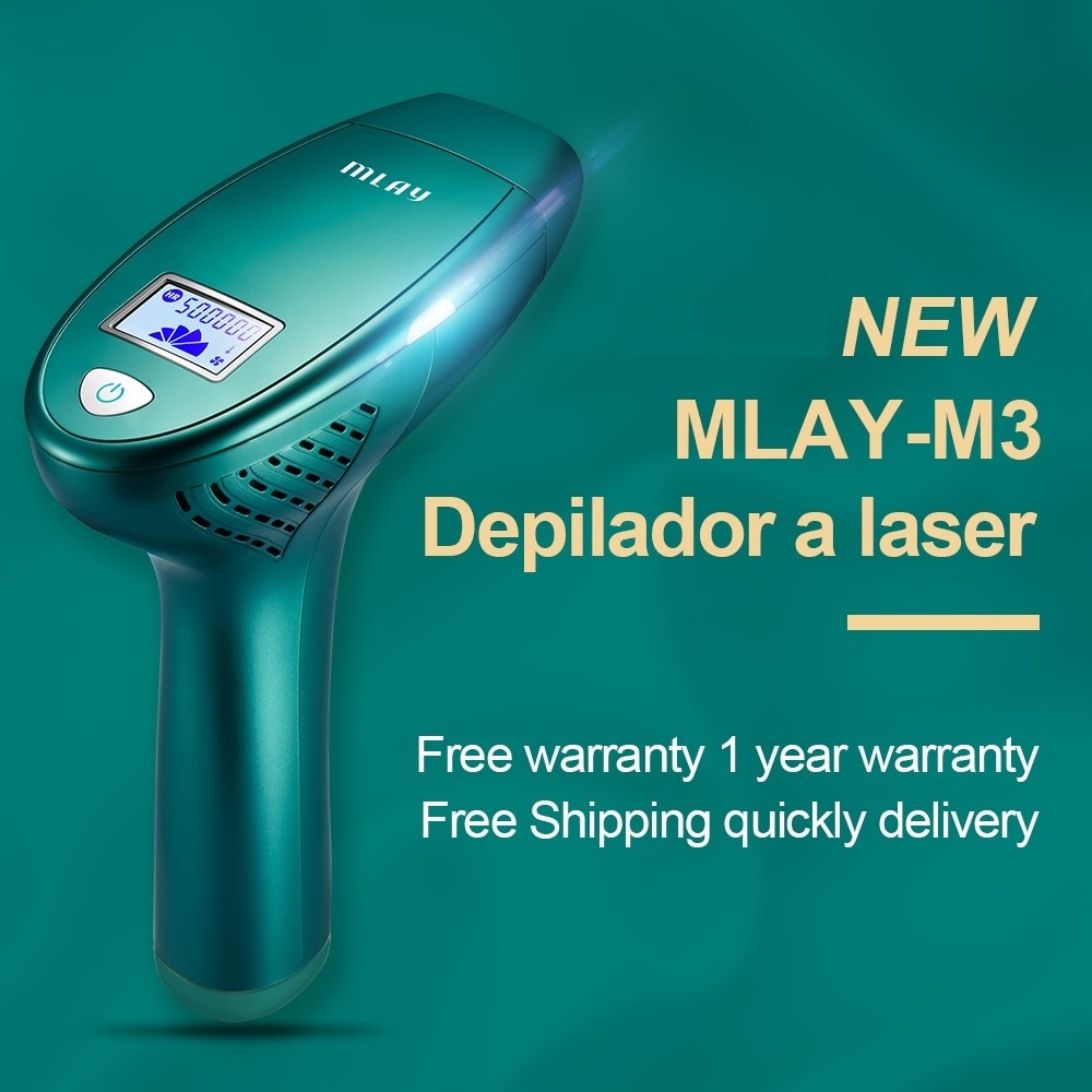 MLAY M3 Portable home depilador a laser ipl laser hair removal machine with one hair removal lamp 500,000 shot for Free Shipping