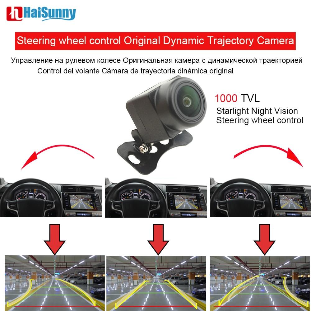 Reverse Camera Dynamic Trajectory Resolution 1000TVL Original Steering wheel Control Parking Camera Night Vision 20m visible
