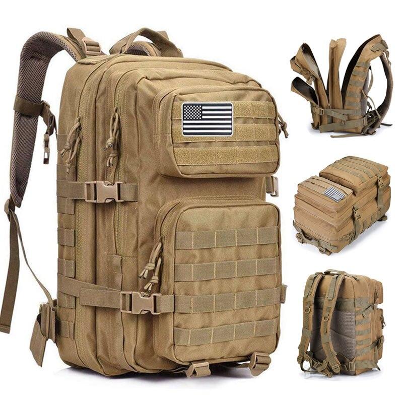 50l gran capacidad militar hombre ejército mochilas tácticas al aire libre 3P impermeable asalto bolsas paquete para deporte Trekking Camping caza