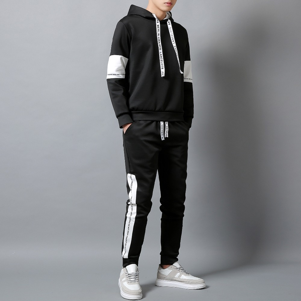 New Brand Clothing Men's Casual Sweatshirts Pullover Men tracksuit Hoodies Two Piece+Pants Sport Shirts Autumn Winter Set S-4XL