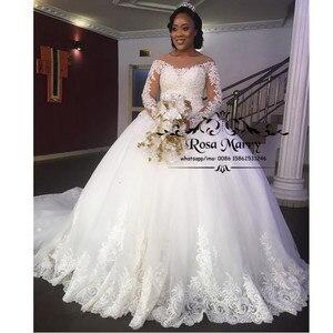Princess Ball Gown Lace Bellanaija Wedding Dresses 2020 Vintage Long Sleeves Sequined Beaded Nigeria African Vestido De Novia
