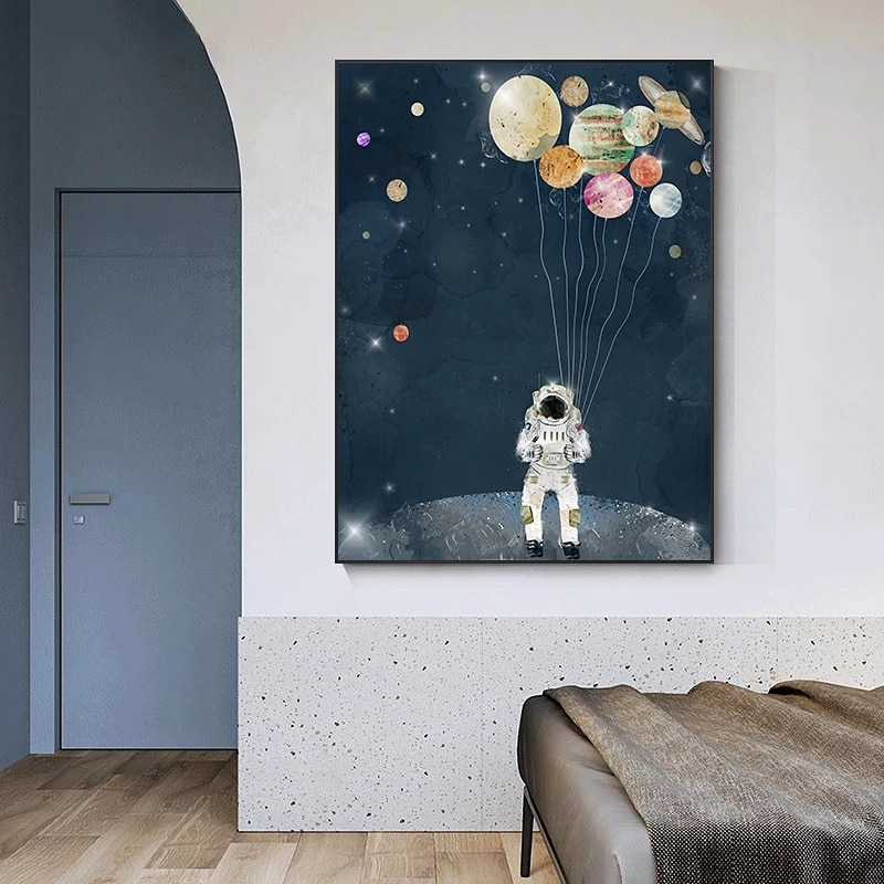 Modern Art space star Canvas Poster And Print astronauts cosmonauts Oil Painting Wall Art For Living Room no frame