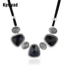 Kymyad Vintage collier ras du cou déclaration femmes Bijoux chaîne de corde résine géométrique colliers et pendentifs gros colliers Chunky