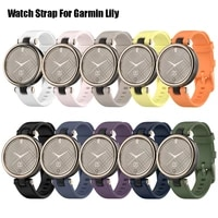 silicone strap for garmin lily womens fitness sport watch bracelet replacement band for garmin lily watch