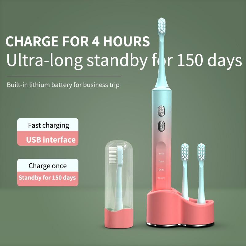 LULU 2021 Newest Model Sonic Electric Toothbrush UV Sterilization Electric Toothbrush USB Wireless Charging IPX7 Waterproof enlarge