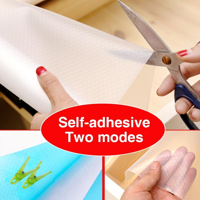 New Reusable Transparent Drawer Mat Cabinet Waterproof Mat Dustproof Contact Paper Washable Moisture-proof Shelf Drawer Liner enlarge