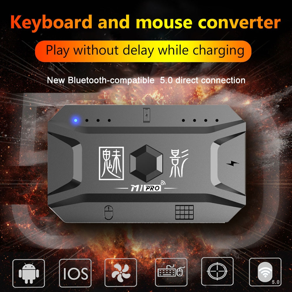 M1pro Mobile Controller Gaming Keyboard Mouse Converter Adapter Plug Gamepad PUBG  Bluetooth 5.0 For