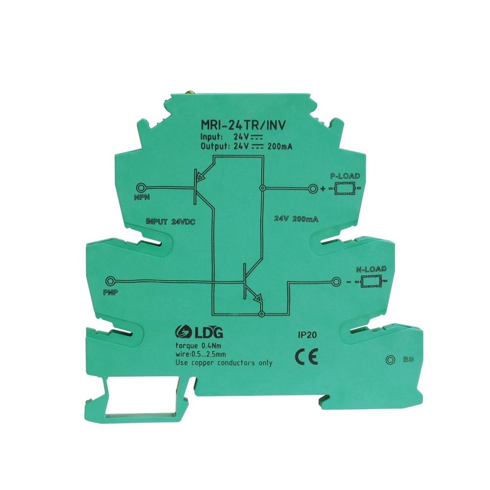 MRI-24TR/INV relay module NPN to PNP signal converter PLC sensor polarity IO conversion Opticalcoupler Interface