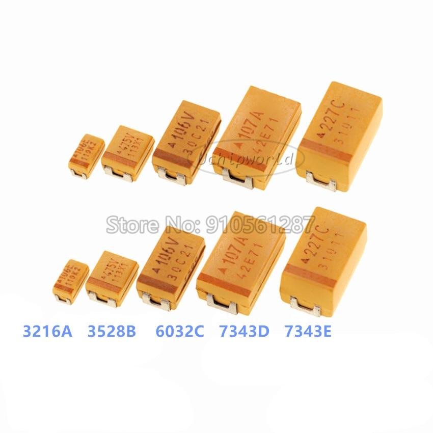 2012r 6.3v 10uf ± 10% tajr106k006rnj 0805 smd capacitor de tântalo avx