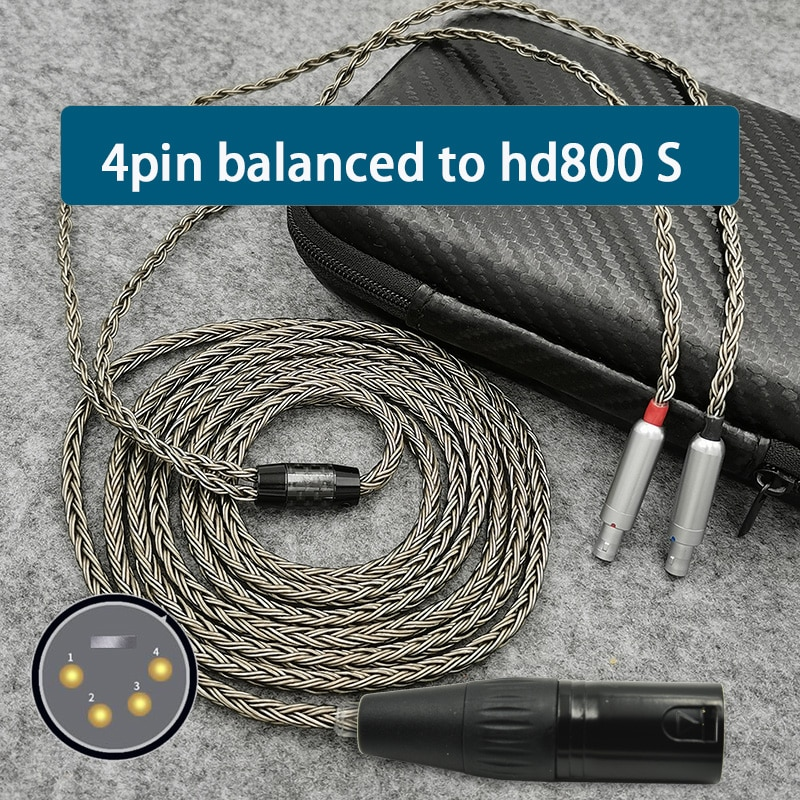 Cable de 4 pines para auriculares, conector Xlr 4,4, 2,5mm, 3,5, 6,35,...