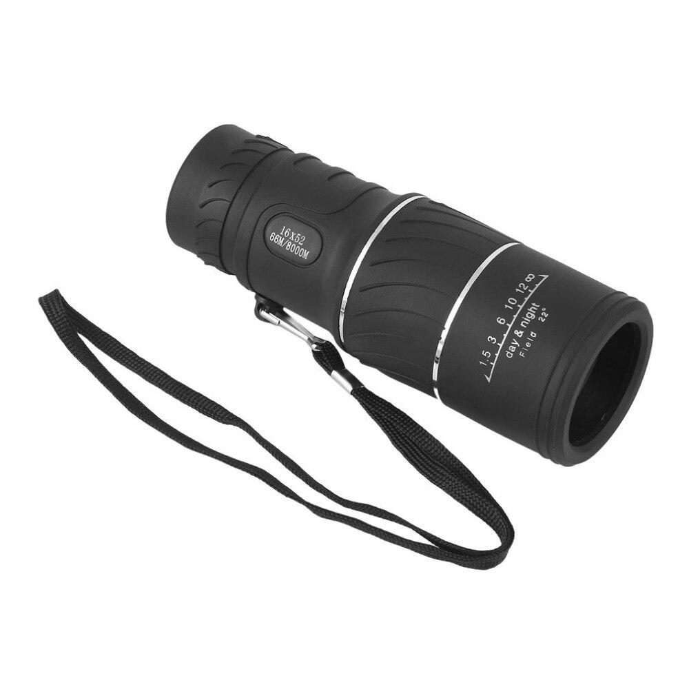 2019 8000M 16x52 lente telescopio Monocular compacta de alta definición con recubrimiento óptico para caza Camping vigilancia