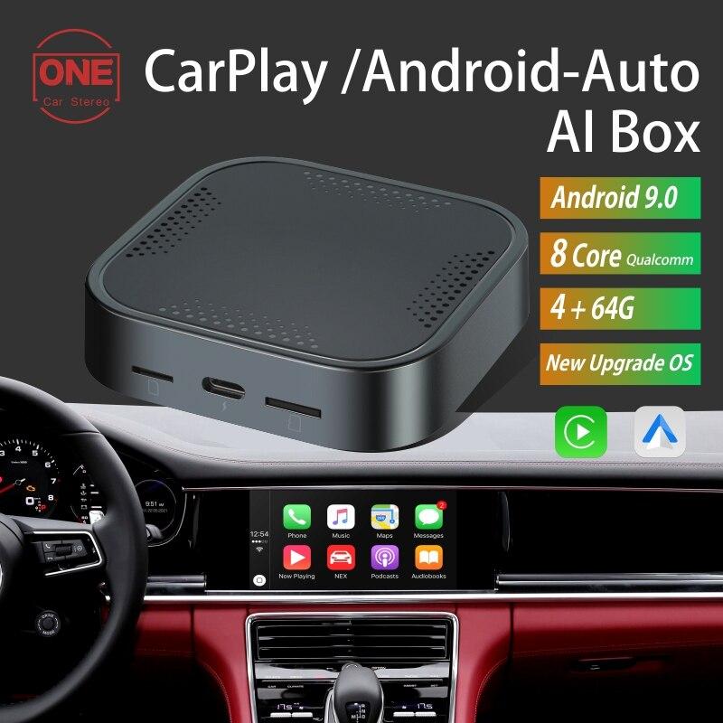 CarPlay Ai صندوق Netflix اللاسلكية CarPlay صندوق أندرويد سيارة الذكية صندوق 4G + 64G سيارة مشغل وسائط متعددة الصوت لفولكس واجن كيا تويوتا