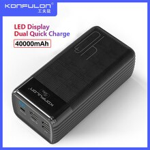 Two Way Quick Charge Power Bank LED Type C Input/Output Powerbank 40000 mah15W PD External Battery C