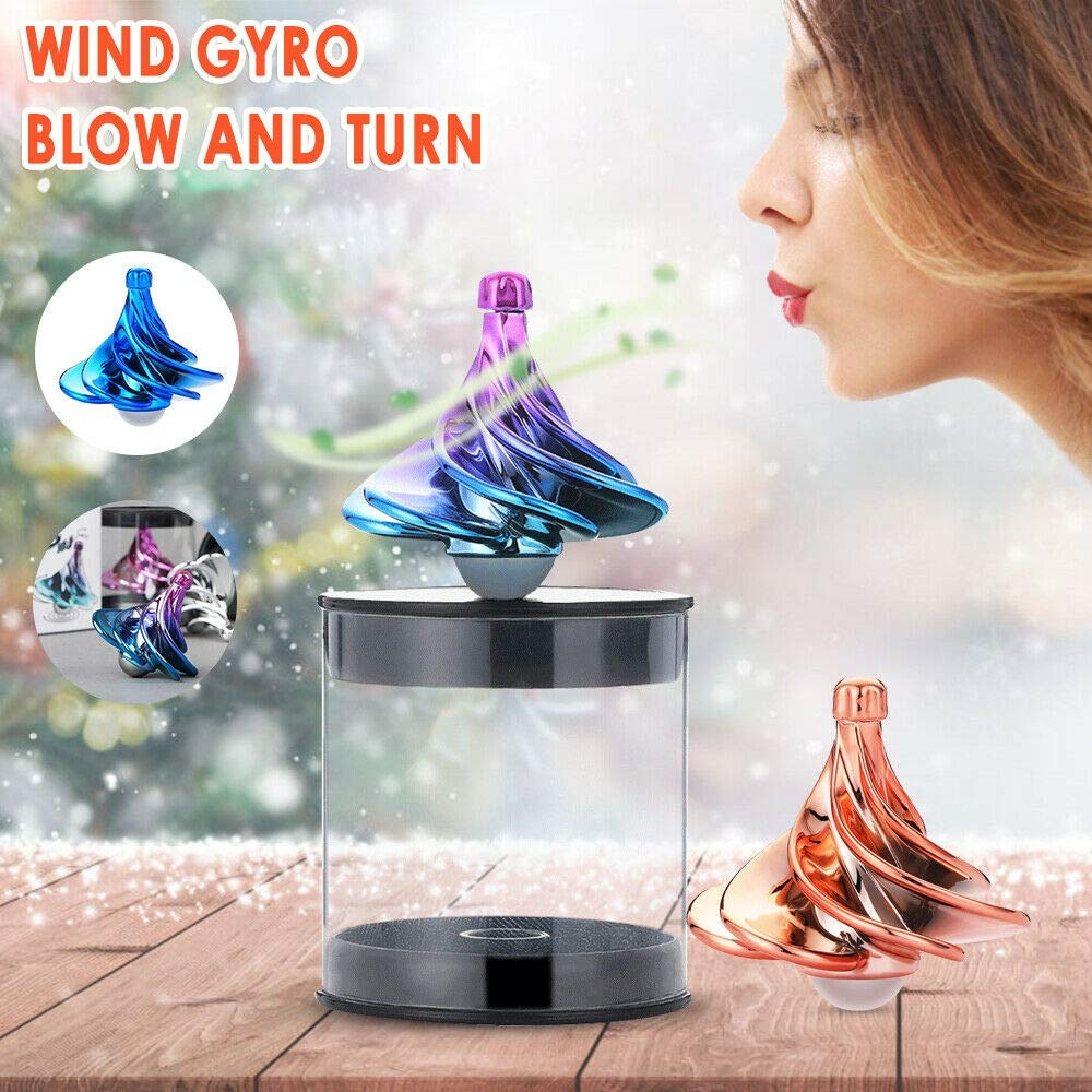 New wind top winspin aerodynamic gyro decompression decompression novelty fun boy and girl toy gift enlarge