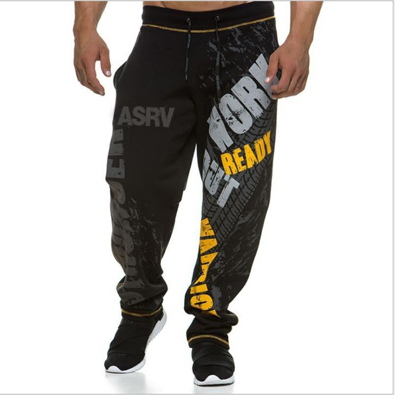 New Running Jogging Pants Men Cotton Soft Bodybuilding Joggers Sweatpants Harem Long Trousers Fitness Sport Training Pants