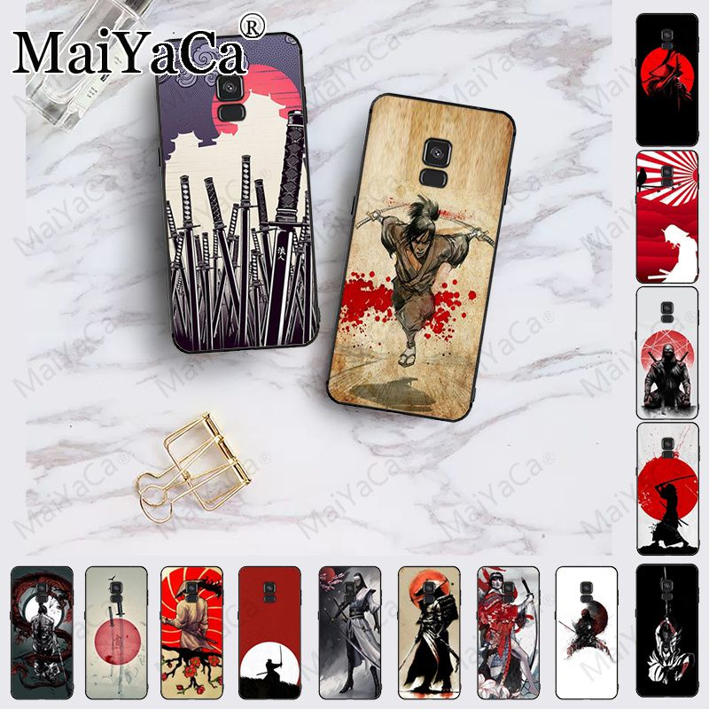 Japan Die samurai Ninja Luxus Einzigartige Design Telefon Abdeckung Für samsung Galaxy A10 A8 A6 A10s A9 A30 A50 A70 ABDECKUNG Handys