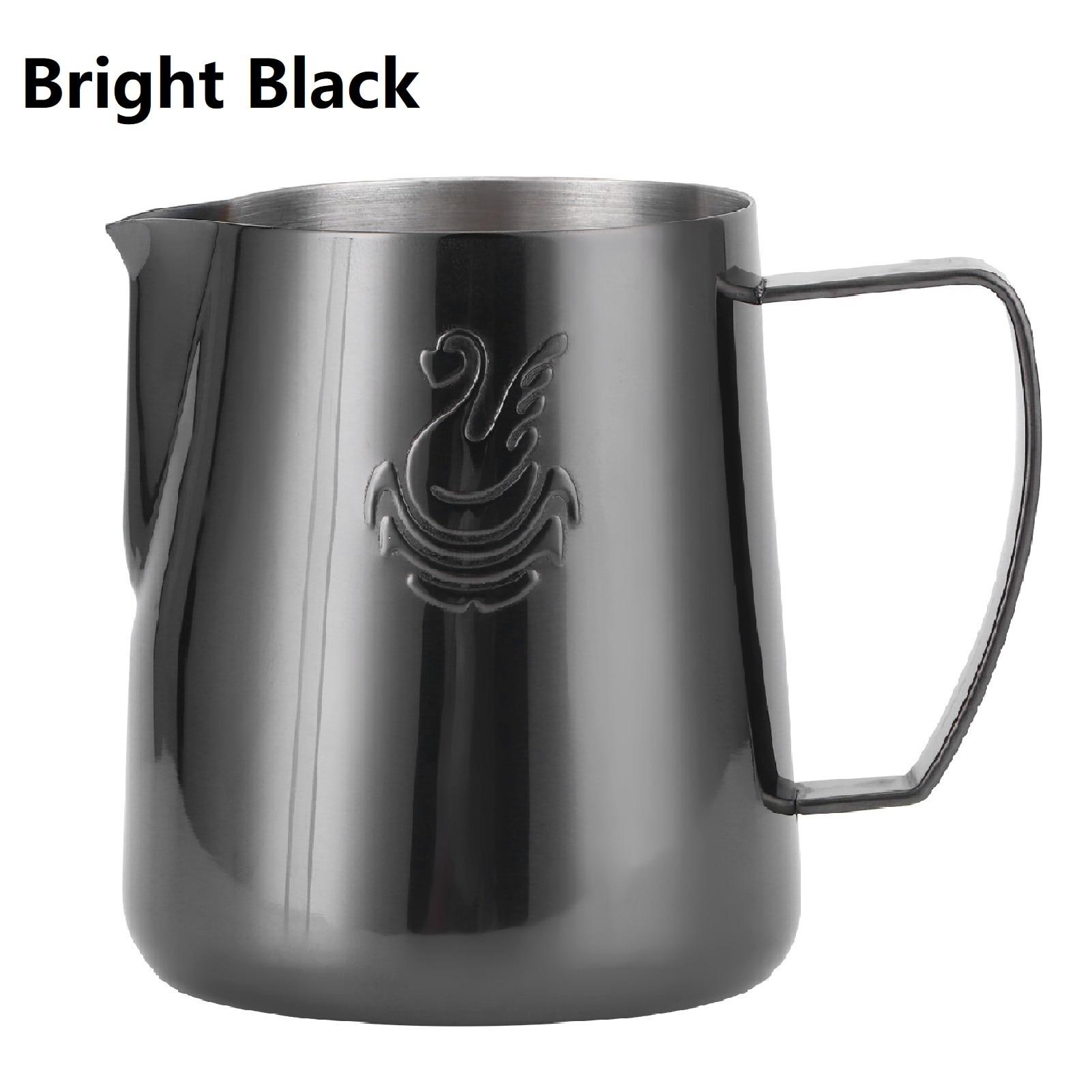 الفولاذ المقاوم للصدأ 400 مللي/600 مللي فنجان القهوة الأسود الحليب مزبد كوب كريم Frother اسبريسو مزبد إبريق إبريق لاتيه إكسسوارات فنية