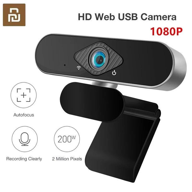 Веб-камера Youpin Xiaovv HD, 1080P, 200 Вт, автофокус, широкий угол обзора 150 градусов, встроенный микрофон с шумоподавлением