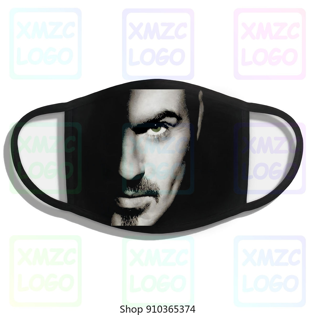Máscara gráfica t música dos homens george michael tribute máscara m66 masculino tripulação pescoço topo t máscara