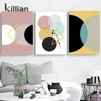 minimalist geometric square round wall art print poster wall picture for canvas painting modern living room bedroom decoration