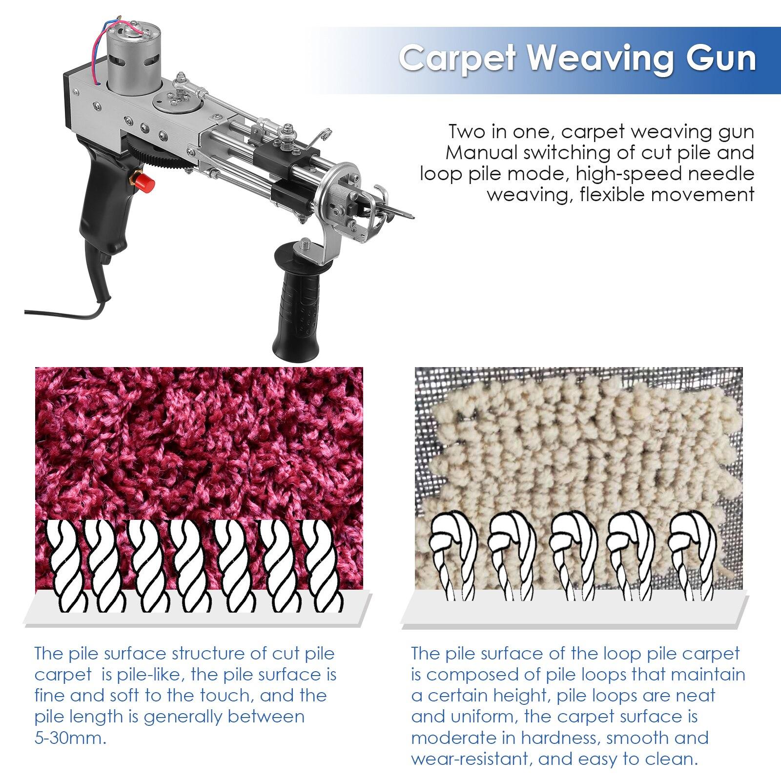 Electric Tufting Gun Carpet Weaving Machine Flocking Machine Industrial Embroidery Machine Cut Pile Loop Pile Knitting Machine enlarge