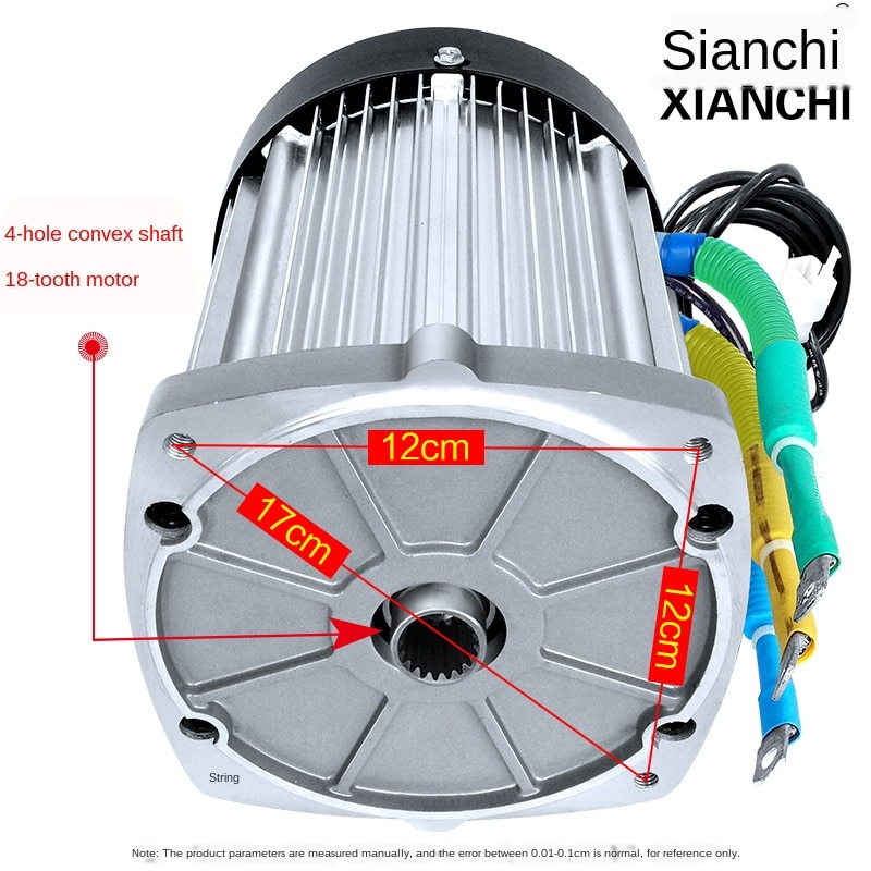 Water Battery Electric Tricycle Mule Cart Electric Machine 60v72v1200w High-power DC Brushless Differential Motor Electrical enlarge