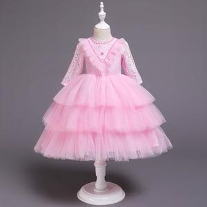 Children Party Dress 6 Years Old Spanish Baby Little Girls Formal Ball Gown Wedding Ceremony Girl Wedding Dress