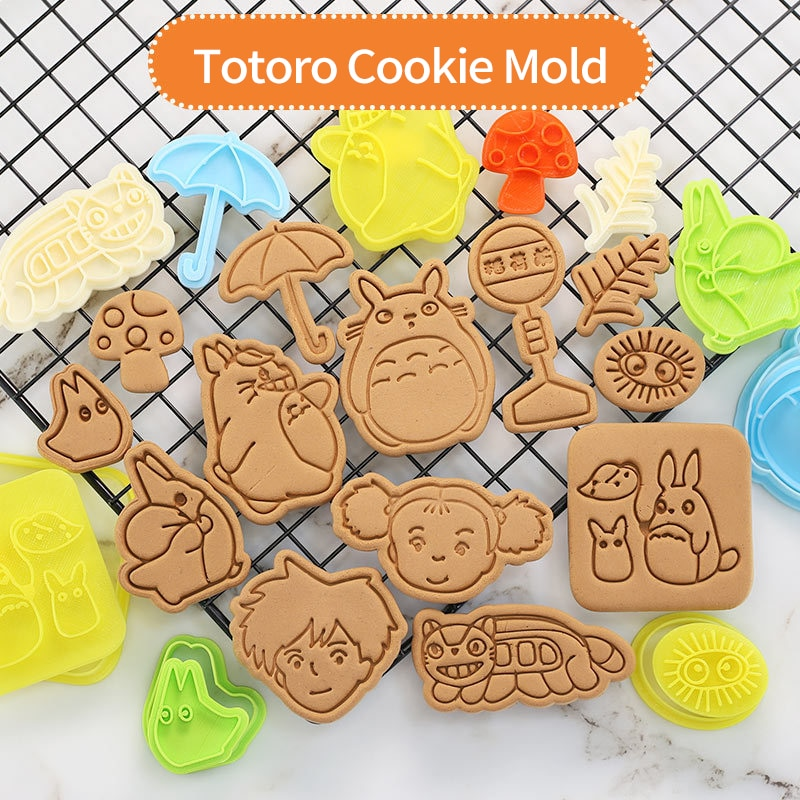 Mold For Baking Elves Totoro Cookie Cutter Cartoon Home Biscuit Tool 3d Pressing Frosting Fondant Plastic