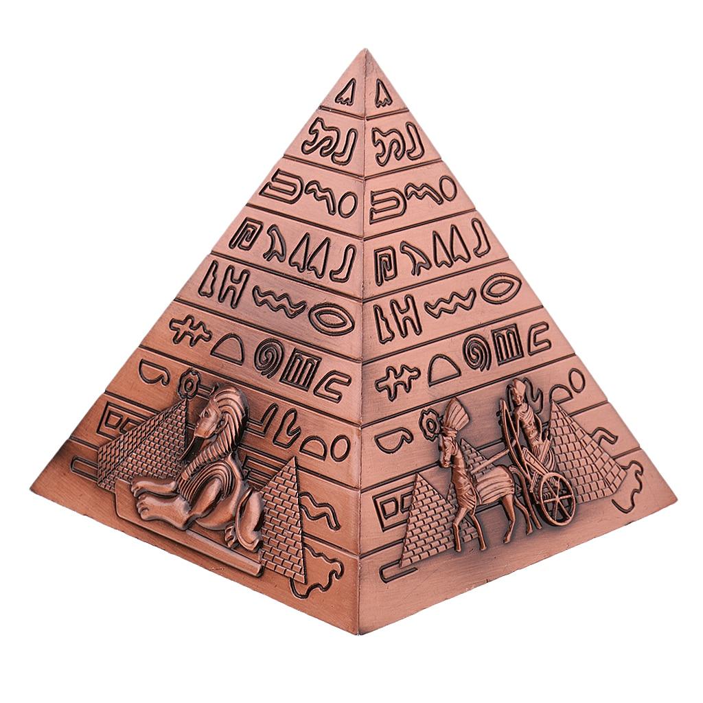 Metalowe rękodzieło egipskie piramidy Model budynku regał Ornament