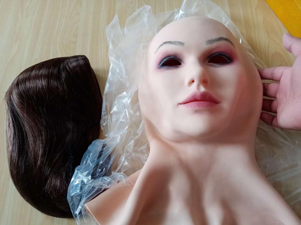 6g máscara facial realista macio silicone feminino máscara para masquerade halloween máscara para crossdresser drag queen transgênero vanessa
