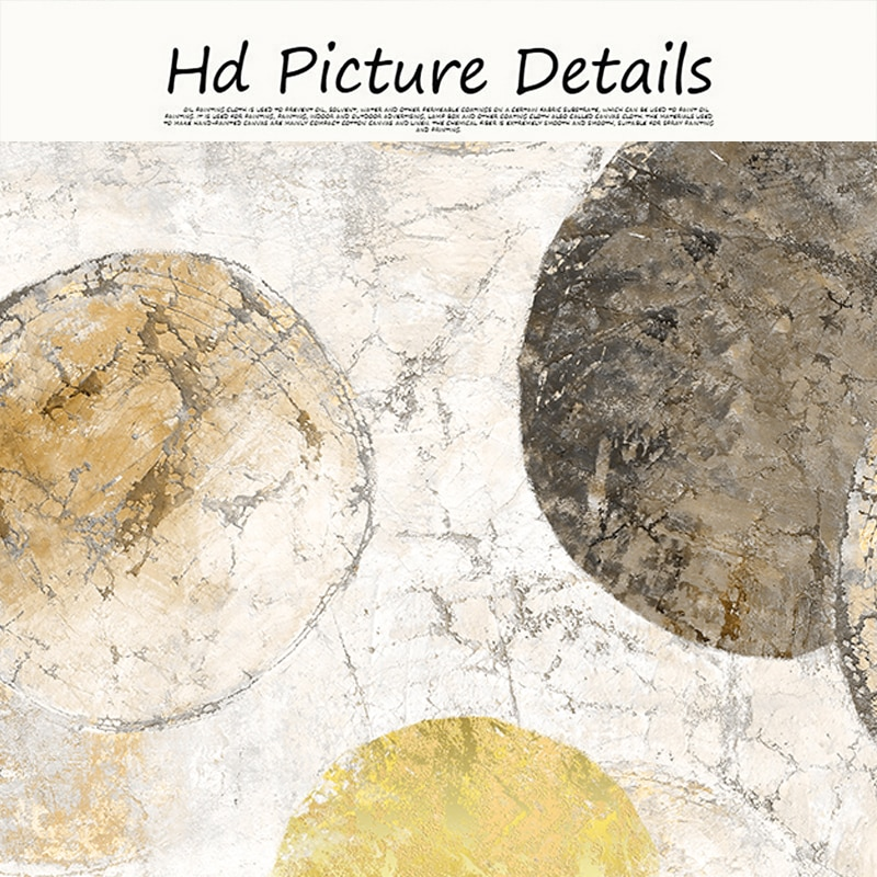 Abstract Geometric Circle Art Canvas Painting Nordic Wall Posters and Prints Modern Pictures for Living Room Home Decoration