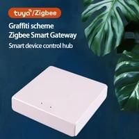 Tuya Zigbee Bridge Smart Home Zigbee Gateway Hub Remote Control Zigbee Devices Via Tuya APPc Smart Electronics