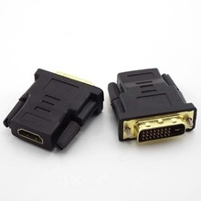 24+1 DVI Male to HDMI-compatible Female Converter To DVI Adapter Support 1080P For HDTV Projector Gold Plated Adapter L19