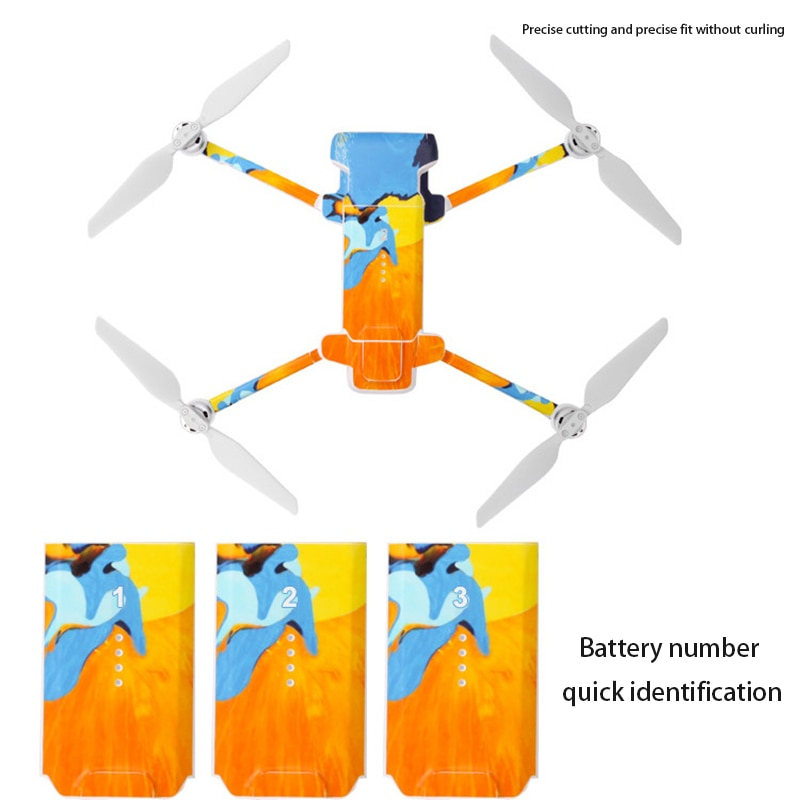 PVC Stickers Protective Skin For Xiaomi FIMI X8 SE Drone Decals Fimi X8 Wrap Accessory Waterproof And Scratch Resistant Dropship