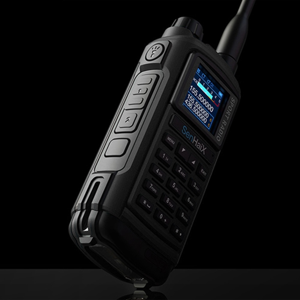 SENHAIX GP8800 Ham Walkie Talkie Optional Bluetooth Waterproof TPU AUTO SCAEN LED Glare Transceiver Outdoor Sports Interphone enlarge