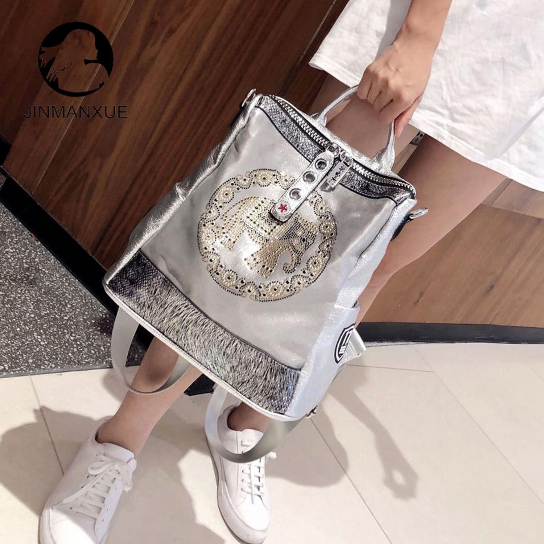 تريند سوبر النار الصيف على ظهره الراقية المرأة حقيبة يد الموضة الجديدة البرية الغربية نمط الفضة حقيبة كتف ذات سعة كبيرة