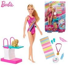 Champion de plongée sport poupée athlètes Yoga Barbie poupée Juguetes jouets pour filles Brinquedos Menina Bjd bébé jouets anniversaire Boneca