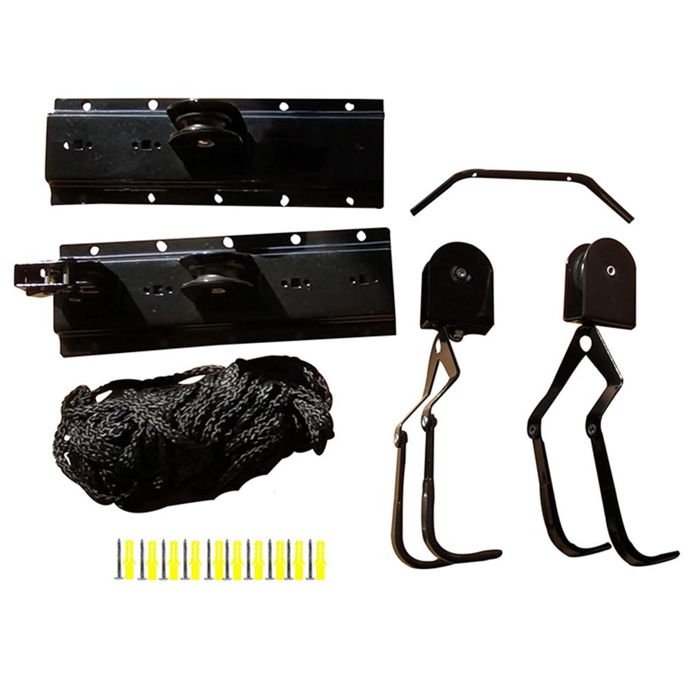Soportes de almacenamiento para bicicletas enganche de Pedal ahorro de espacio soporte para rueda montado en la pared suspensión fácil de instalar que muestra el acero del garaje de ciclismo