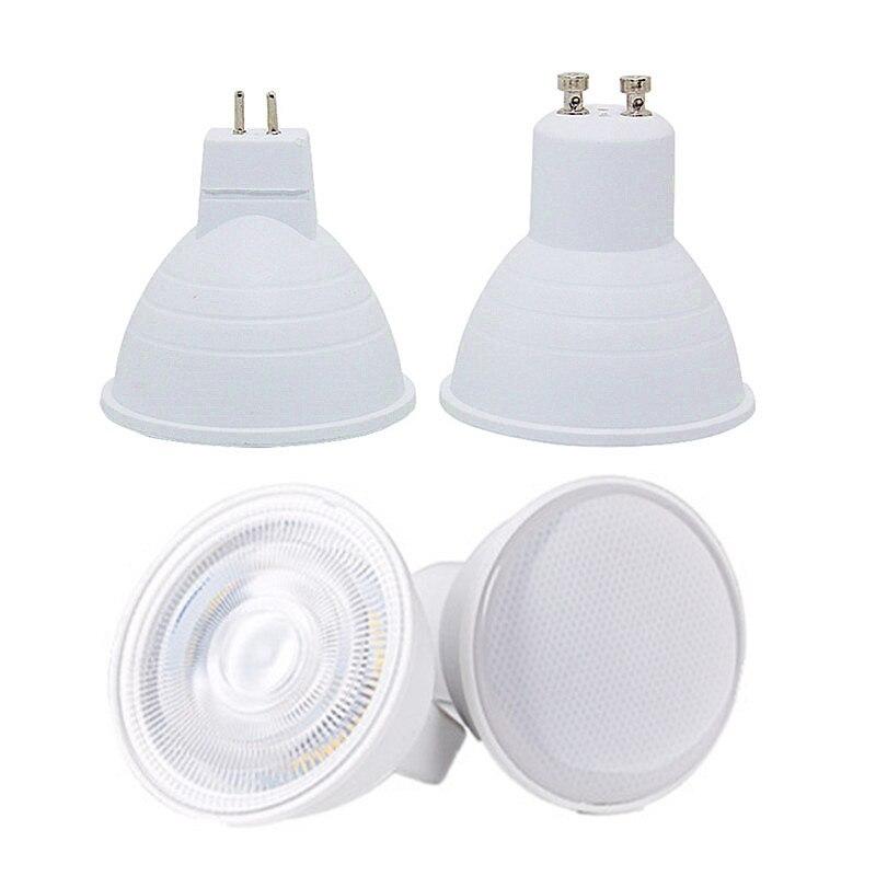 led spotlight bulb gu10 mr16 6w cob lamp 110v 220v 230v 240v cool white 6500k nature white 4000k warm white 3000k spot light GU10 MR16 Led Bulb Spotlight 12V 110V 220V Natural Light Nature White 4000k Cool White 6500k Warm White 3000k Dimmable Cob Lamp