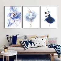 nordic wall art posters abstract minimalist canvas painting modern ballet girl pictures for living room home decoration no frame