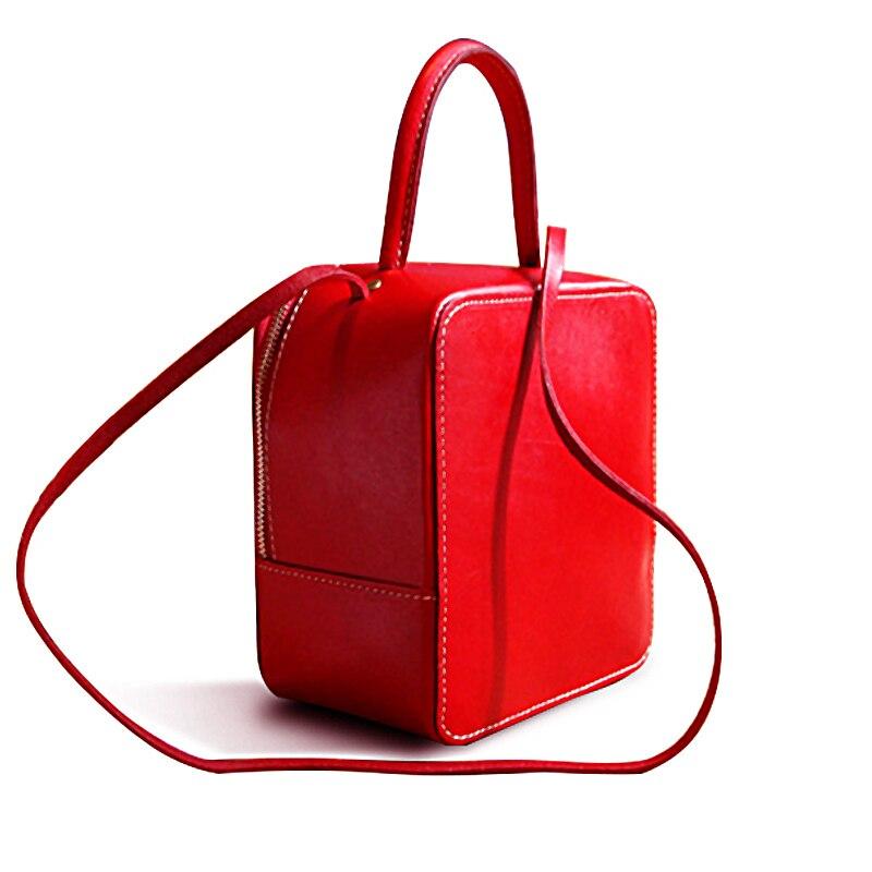 Bag for Women New Creative Handmade Shoulder Bag Genuine Leather Lady Slung Bag Mini Female Handbag